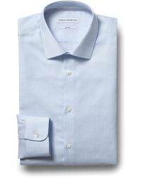 French Connection - Slim Fit Sky Single Cuff Oxford Shirt - Lyst