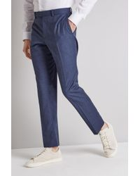 DKNY - Slim Fit Ocean Blue Trousers - Lyst