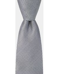 DKNY - Silver Microtexture Tie - Lyst