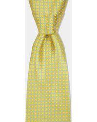 Moss Esq. - Yellow with Sky Crosshatch Tie - Lyst