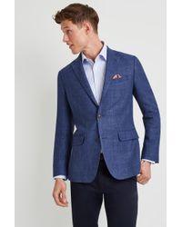Ermenegildo Zegna - Tailored Fit Blue Open Weave Jacket - Lyst