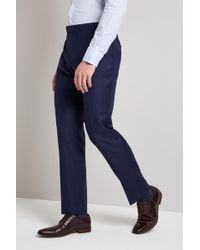 Hardy Amies - Tailored Fit French Navy Twill Trouser - Lyst