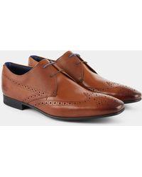 Ted Baker - Dervin Tan Comfort Brogue Derby Shoe - Lyst