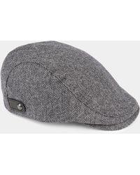 Ted Baker Herringbone Flat Cap in Gray for Men - Lyst 193e2e8aec14