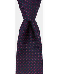 DKNY - Navy With Red Pindot Tie - Lyst