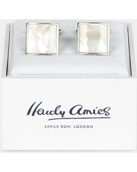 Hardy Amies - Ivory Square Mother Of Pearl Cufflinks - Lyst