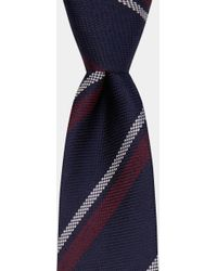 DKNY - Navy With Burgundy & White Mid-stripe Tie - Lyst