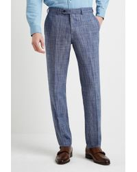 Ermenegildo Zegna Tailored Fit Summer Blue Texture Trouser