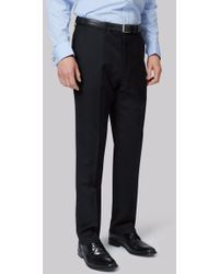 Lanificio F.lli Cerruti Dal 1881 - Cloth Tailored Fit Black Trouser - Lyst