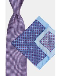 Moss Esq. | Red & Blue Tie & Pocket Square Set | Lyst