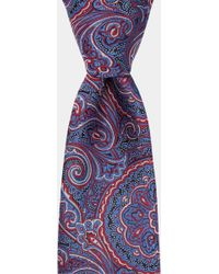 Moss Bros - Red & Blue Large Paisley Tie - Lyst