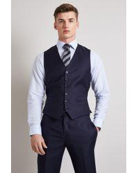 Hardy Amies - Tailored Fit Plain Navy Waistcoat - Lyst