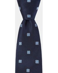 DKNY - Navy Twill With Medallion Tie - Lyst