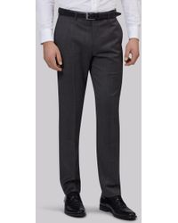 Lanificio F.lli Cerruti Dal 1881 - Cloth Tailored Fit Charcoal Semi Plain Trouser - Lyst