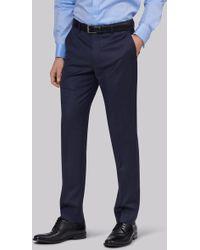 Lanificio F.lli Cerruti Dal 1881 - Cloth Tailored Fit Indigo Semi Plain Trouser - Lyst