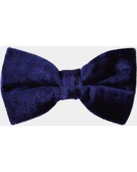 f8ee8f9cda1f Moss London Black Floppy Bow Tie in Black for Men - Lyst