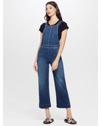 7806b2f96f70 Mother Denim - The Greaser Overall Crop What I Had Before I Had You - Lyst