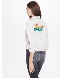 Mother Denim - Long Sleeve Frenchie Crop Fray - Lyst