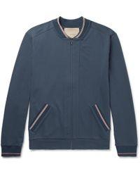 Zimmerli - Stretch-cotton Jersey Zip-up Top - Lyst