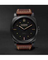 Officine Panerai - Radiomir 1940 3 Days Ceramica 48mm Ceramic And Leather Watch - Lyst