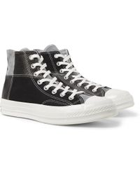 b33746df51f2 Lyst - Converse All Star Chuck Taylor Woven High-top Sneakers in Red ...