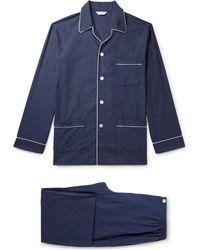 Derek Rose - Balmoral Herringbone Cotton Pyjama Set - Lyst