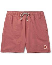 Mollusk - Long-length Cotton-blend Swim Shorts - Lyst