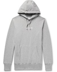 Aimé Leon Dore - Logo-print Mélange Loopback Cotton-jersey Hoodie - Lyst