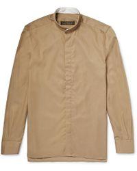 Freemans Sporting Club - Grandad-collar Linen Shirt - Lyst