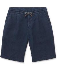 Brunello Cucinelli - Linen Drawstring Shorts - Lyst