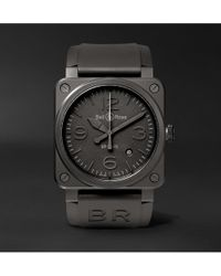 Bell & Ross - Br 03-92 Phantom 42mm Ceramic And Rubber Watch - Lyst