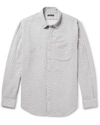 Engineered Garments - Polka-dot Double-faced Cotton-gauze Shirt - Lyst