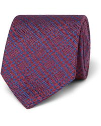 Charvet - 7.5 Prince Of Wales Checked Wool And Silk-blend Jacquard Tie - Lyst