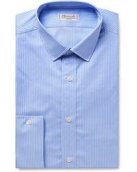 Charvet - Light-blue Striped Cotton Shirt - Lyst