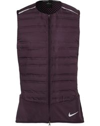 Nike - Aeroloft Stretch Mesh-jersey And Quilted Shell Down Gilet - Lyst