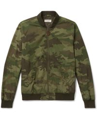 J.Crew - Wallace & Barnes Camouflage-print Cotton-ripstop Bomber Jacket - Lyst