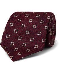 Drake's - 8cm Silk And Linen-blend Jacquard Tie - Lyst