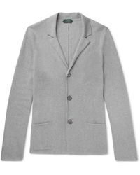 Incotex - Slim-fit Knitted Cotton Cardigan - Lyst