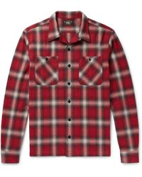 RRL - Camp-collar Checked Brushed-cotton Shirt - Lyst