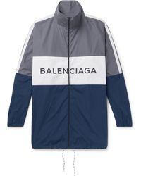 Balenciaga - Colour-block Cotton-shell Jacket - Lyst