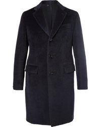 Brioni - Slim-fit Baby Llama And Virgin Wool-blend Overcoat - Lyst