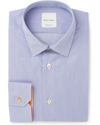 Paul Smith - Blue Soho Slim-fit Striped Cotton Shirt - Lyst