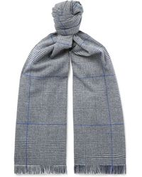 Hackett - Prince Of Wales Checked Wool Scarf - Lyst