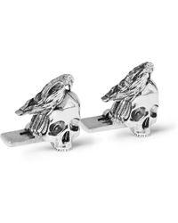 Alexander McQueen - Skull Silver-tone Cufflinks - Lyst