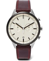 Uniform Wares - C41 Chronograph Pvd-coated Stainless Steel And Leather Watch - Lyst