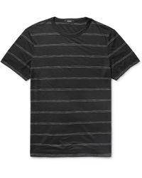 Theory - Gaskell Slim-fit Striped Modal-blend Jersey T-shirt - Lyst