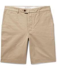 Officine Generale - Fisherman Cotton-twill Shorts - Lyst