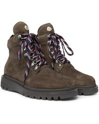 Moncler - Isaac Nubuck Hiking Boots - Lyst