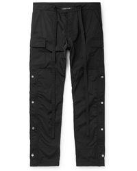 Fear Of God - Black Slim-fit Shell Drawstring Cargo Trousers - Lyst