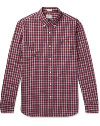 J.Crew | Cooper Checked Washed-cotton Shirt | Lyst